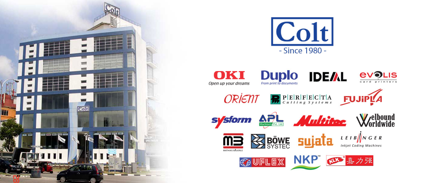 Colt trading Sri Lanka, our main printing and packaging brands